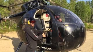 Helikopter montaż masztów