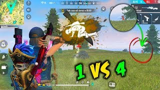 Got 2 AWM Solo vs Squad ClockTower best fight Gameplay - Garena Free Fire