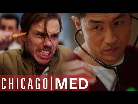 Patient's Own Heartbeat Drives Him To Insanity | Chicago Med