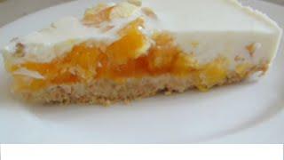 Торт желейный с апельсинами без выпечки
