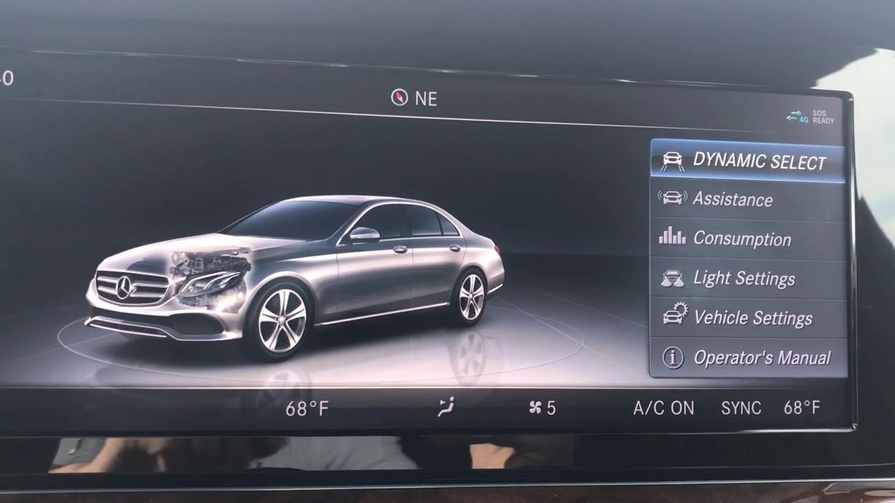 Mercedes-Benz E-Class: Assistance menu