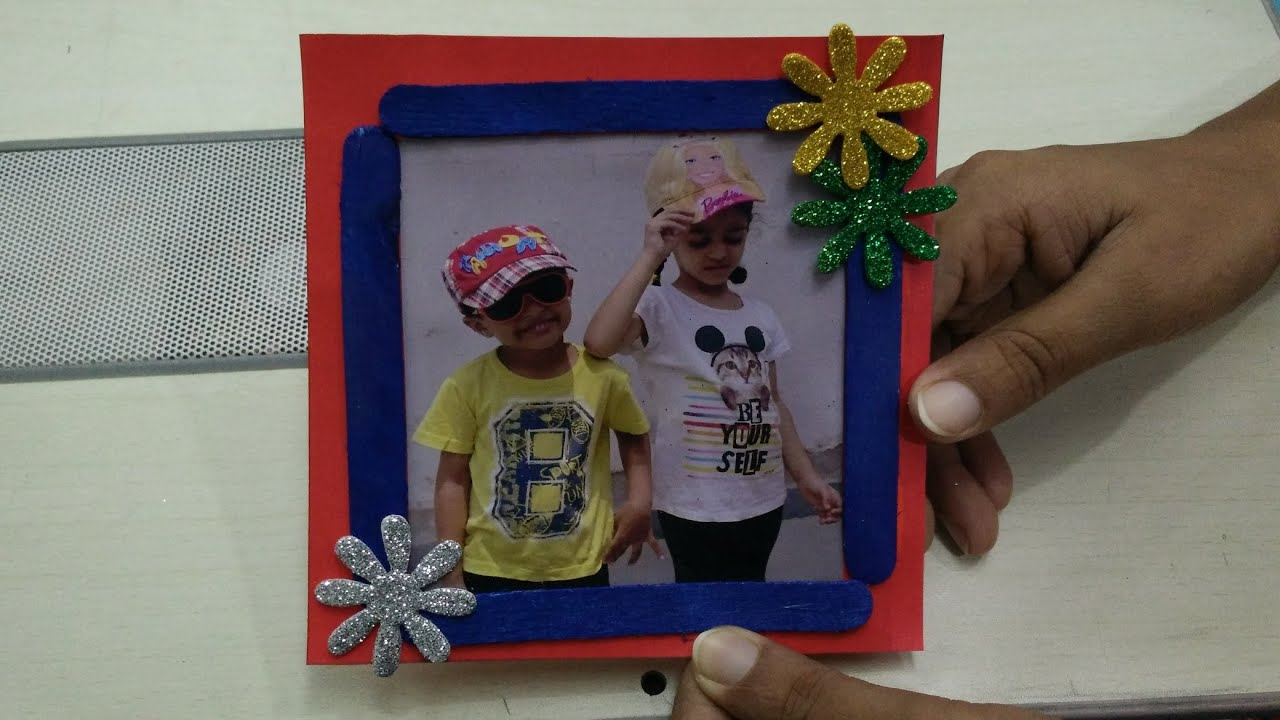 Frame Making using Ice Cream Sticks Easy Art & Craft Ideas by