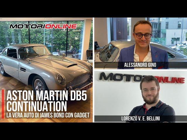 ASTON MARTIN DB5 CONTINUATION GOLDFINGER EDITION | L'auto di James Bond con Alessandro Gino