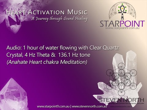 Meditation: Clear Quartz, 4 Hz Theta Waves, 136.1 Hz (Heart