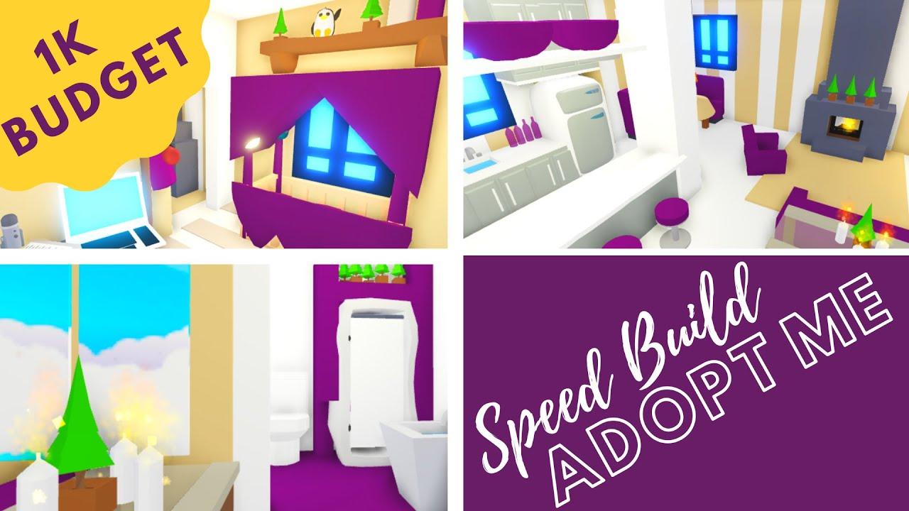 Adopt Me Speed Build Adopt Me Tiny House 1k Budget Adopt Me Design Youtube