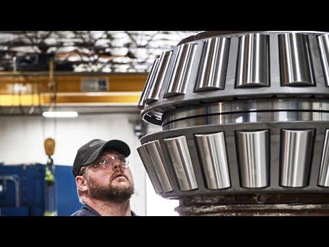 Mounting bearings in vertical fashion