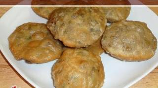 Matar Kachori (Spicy Puffed Pastry) Recipe by Manjula, Indian Vegetarian Gourmet