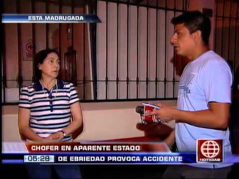 América Noticias: Chofer en estado de ebriedad provocó aparatoso accidente en Miraflores