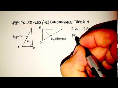Congruence: Hypotenuse-Leg (HL) Congruence Theorem