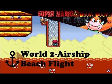 Super Mario and Boom Boom's Evil Spells | World 2-Airship: Beach Flight