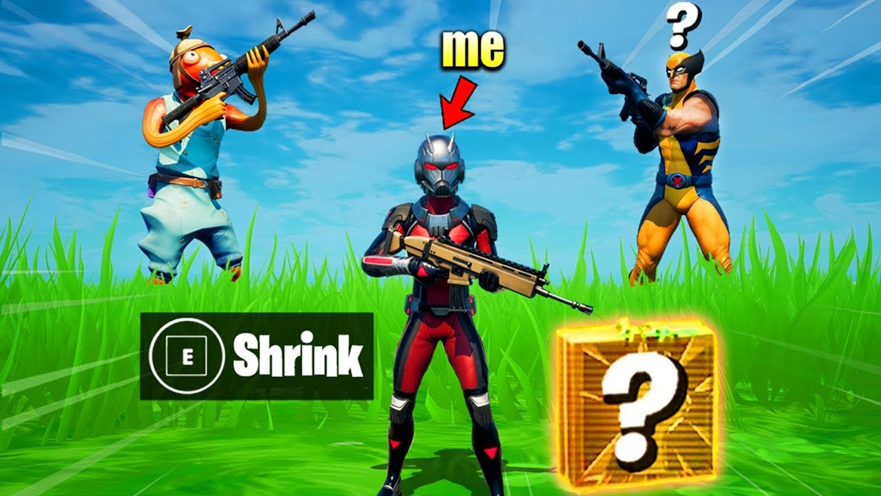 I Pretended to be ANT-MAN in Fortnite