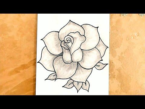 qizilgul sekli cekmek,gül çizimleri,sekil cekmek,mektebeqeder hazirliq,şəkil çəkmək,rose drawings,