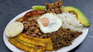 así se hace una bandeja paisa al estilo de rosita cocina - como hacer una bandeja paisa colombiana