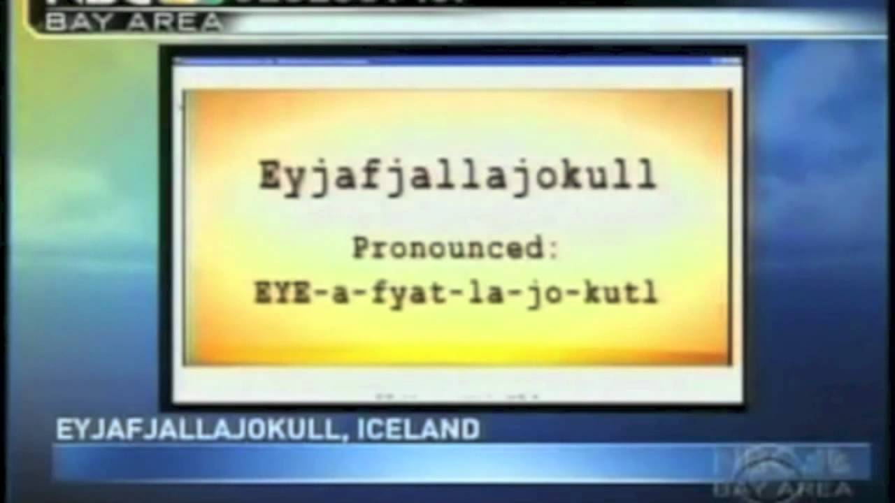 Eyjafjallajökull pronunciation - YouTube