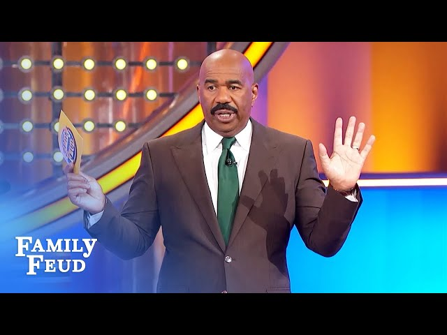 Steve Harvey threatens to quit! Grossest Feud question ever? | Family Feud