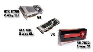 nvidia gtx titan sli vs gtx 780 sli vs ati 7970 cf