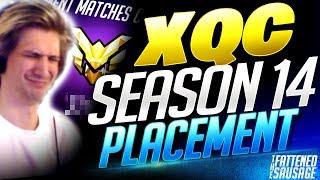 xQc Season 14 Final PLACEMENT MATCH! | Overwatch