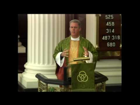 The Rev. Randy Hollerith preaches at the 10 a.m. service June 26 at St. James