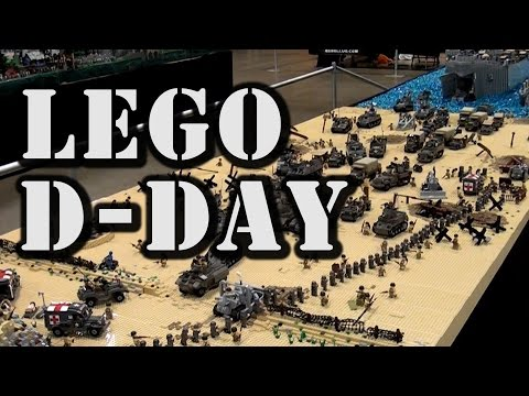 Epic LEGO WWII D-Day Normandy Omaha Beach by Brickmania