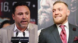 44-Year Old Oscar De La Hoya CHALLENGES Conor McGregor to a Fight!