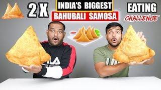 BAHUBALI SAMOSA EATING CHALLENGE | Samosa Eating Competition | Food Challenge