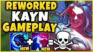 *NEW* KAYN REWORK IS ACTUALLY AMAZING!!! RANK 1 KAYN VS REWORKED KAYN GAMEPLAY!  - League of Legends