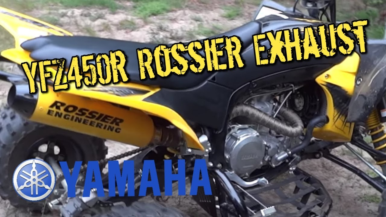 Exhaust Heat Wrap >> 2012 Yfz450r se with Rossier Engineering Exhaust and FCI and MSD Blaster - YouTube