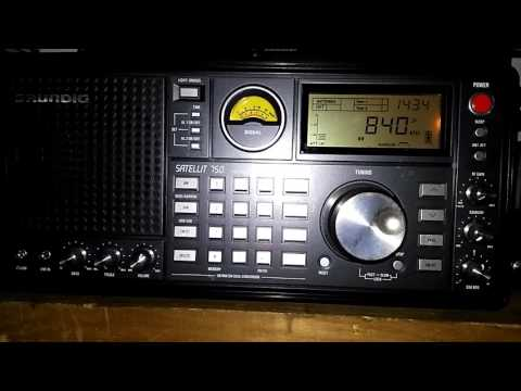 AM/MW DX of News Radio 840 WHAS on 840 kHz from Louisville, Kentucky, USA
