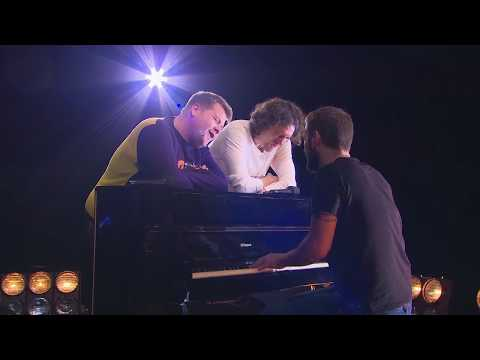 "James Corden & Snow Patrol Duet ""What If This Is All The Love You Ever Get?"" During Rehearsal"