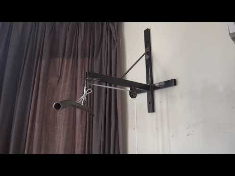 Home Made Lateral Pull Down Wall Mounted Machine