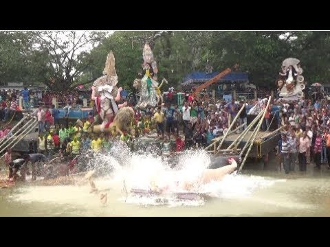 Chandannagar Jagaddhatri Puja 2017 ( Part 2) | 'Immersion Ceremony'  At Chandannagar, WB, India