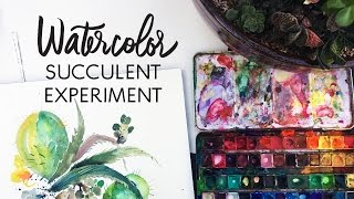 How to Paint Watercolor Succulents