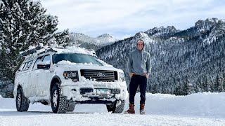 Truck camping in Colorado's 4th worst Blizzard - 48 inches of snow