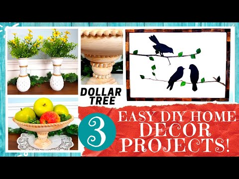 3-dollar-tree-home-decor-diys-|-silhouette-bird-art-|-vase-set-|-beaded-bowl-|-free-printable!