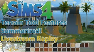 Sims 4 Patch News: Terrain Livestream Replay in 7 Mins