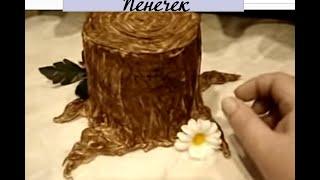 МК по созданию пенечка для кукольных композиций.... Автор: Елена Лаврентьева