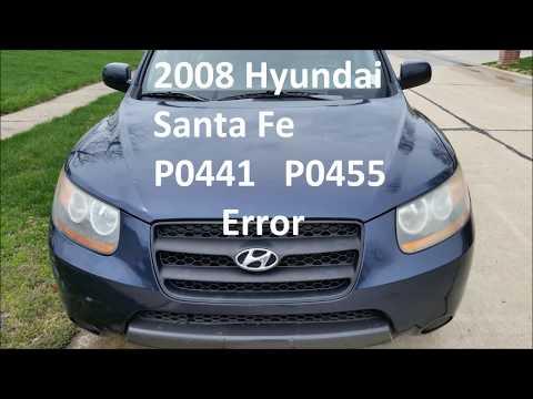 DIY 2008 Hyundai Santa Fe EVAP Canister Fuel Purge Valve Repair P0441 P0455