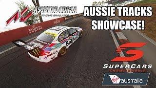 V8 Supercars   ASSETTO CORSA   Australian Tracks Showcase with DOWNLOAD LINKS   V8SCORSA