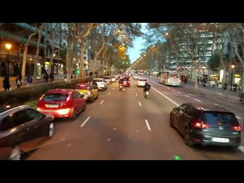 Driving through Barcelona