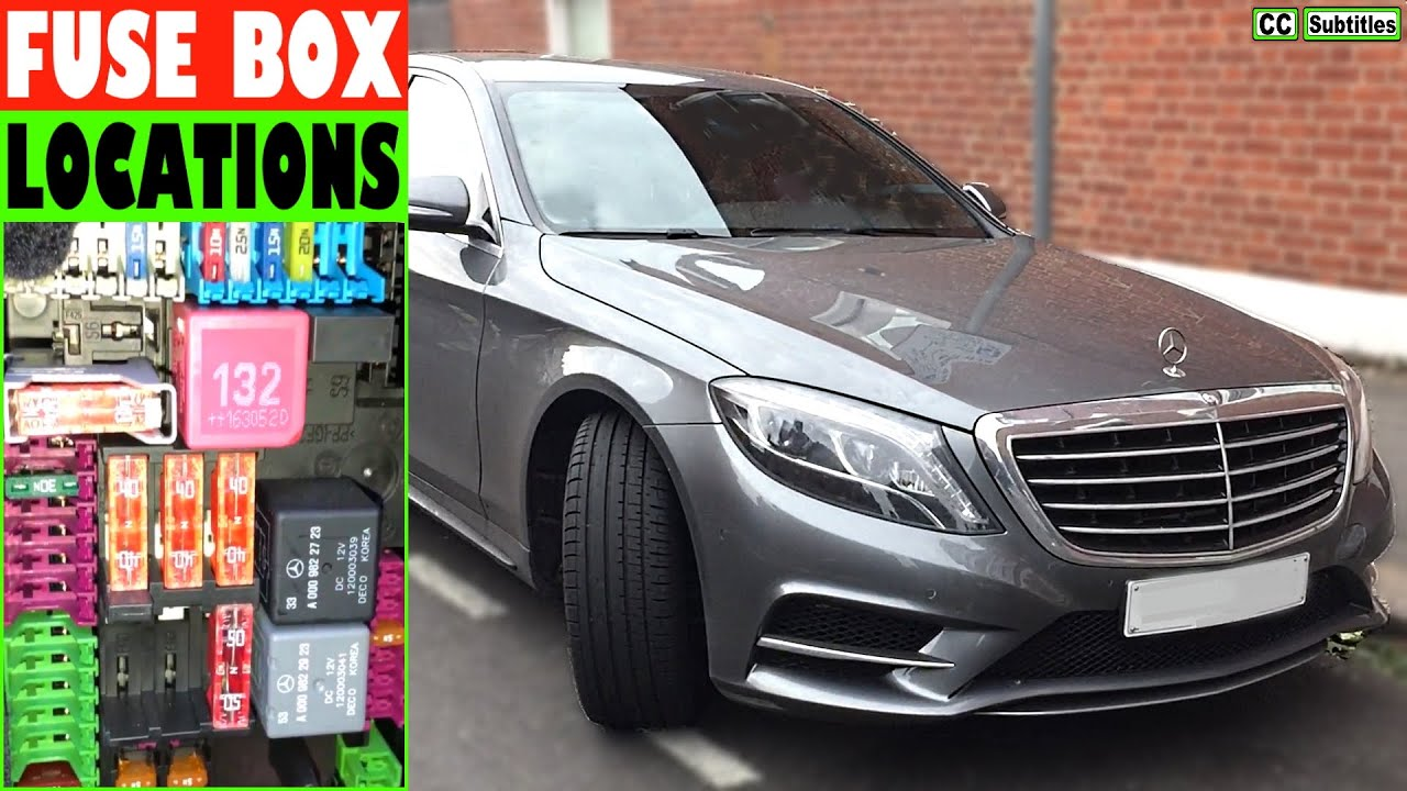 Mercedes S-Class Fuse Box Locations and How to check Fuses on Mercedes S350  - YouTube  YouTube