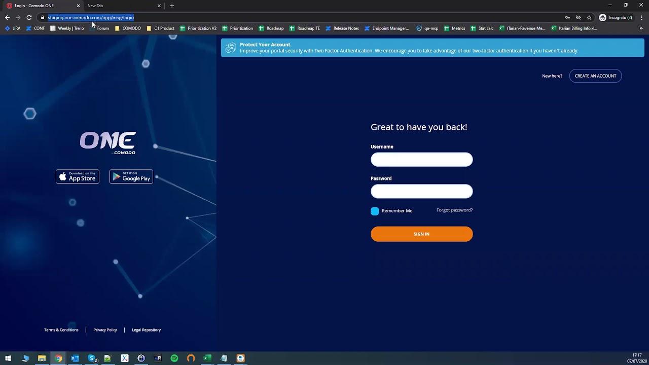 Itarian/Comodo ONE July Release Demo