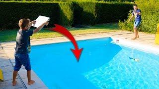 PRANK - Swan jette le Macbook de Néo dans la piscine !