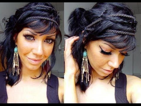 tuto coiffure boh me chic en 5 min seulement youtube. Black Bedroom Furniture Sets. Home Design Ideas