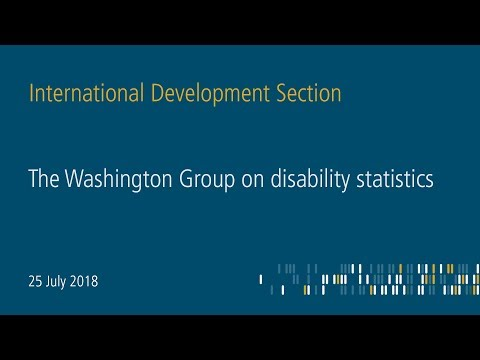 The Washington group on disability statistics - Making disability visible in statistics (Part 2)