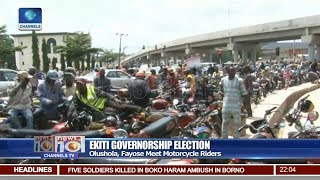 Olushola, Fayose Meet Motorcycle Riders In Ekiti Pt 1 | News@10 |