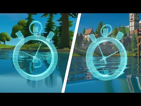 Complete The Swimming Time Trials At Lazy Lake And East Of Hydro 16 Locations - Fortnite Challenge