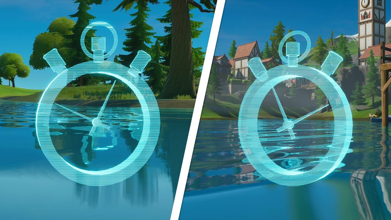 Complete The Swimming Time Trials At Lazy Lake And East Of Hydro 16 Locations Fortnite Challenge