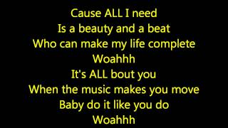 Justin Bieber- Beauty and a Beat Acoustic Lyrics HD
