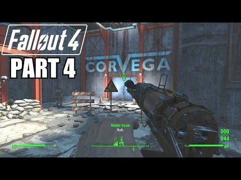 Fallout 4 Gameplay Walkthrough Part 4 - CORVEGA ASSEMBLY PLANT - Xbox One 1080P