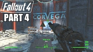 Fallout 4 Gameplay Walkthrough Part 4 - CORVEGA ASSEMBLY PLANT - Xbox One 1080P